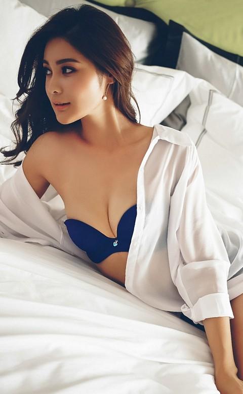 維娜姿味 無痕美背半罩內衣 B-C anSubRosa - 藍色