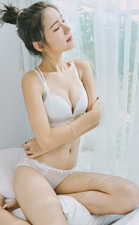 戀愛泡泡 誘惑美背無鋼圈內衣褲 S-L nalla - 白色