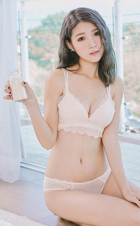 戀愛泡泡 誘惑美背無鋼圈內衣褲 S-L nalla - 粉嫩黃