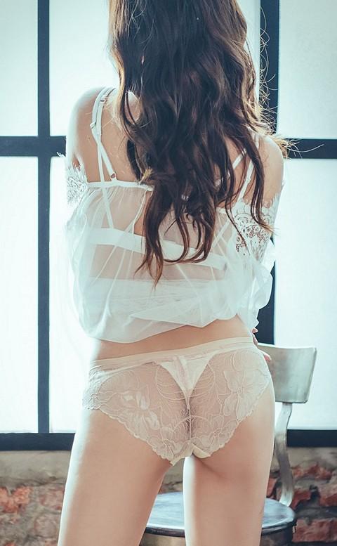 摯愛迷宮 絲滑蕾絲美尻內褲 S-L anSubRosa - 膚色