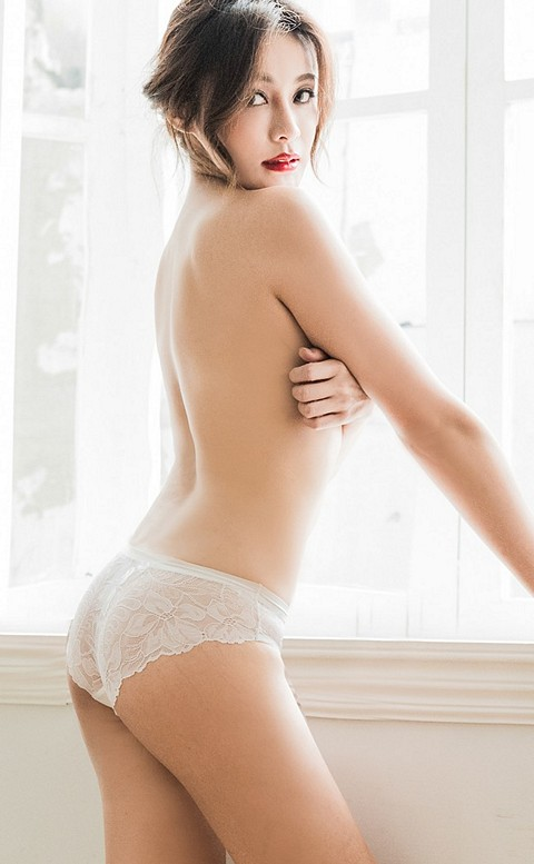 摯愛迷宮 絲滑蕾絲美尻內褲 S-L anSubRosa - 白色