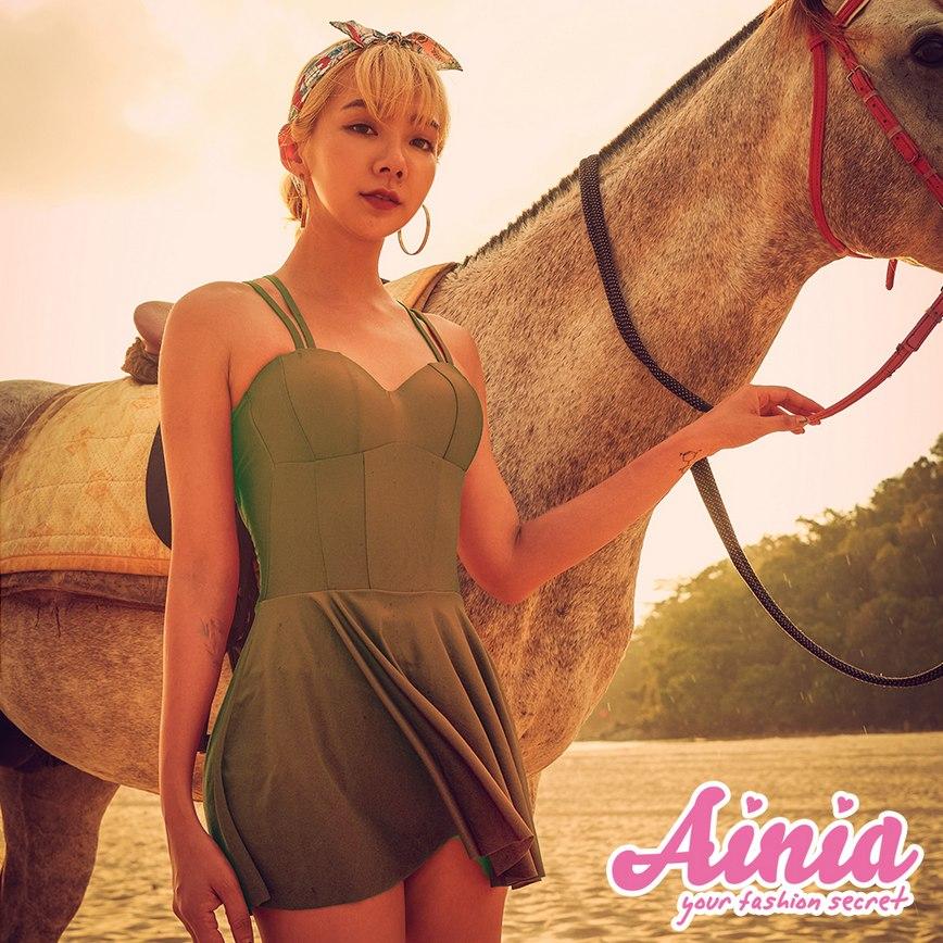 異域國度 交叉美背馬甲連身泳衣 M-XL AINIA,泳衣,連身,Ania,Alnla,顯瘦