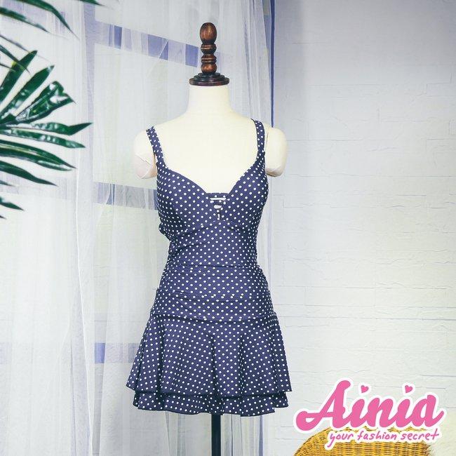 【首購免運費】夏日自信 迷人顯瘦連身泳衣 L-2XL AINIA