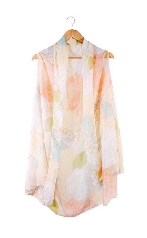 夢中女神 雪紡飄逸多功能罩衫 FREE AINIA - 粉色