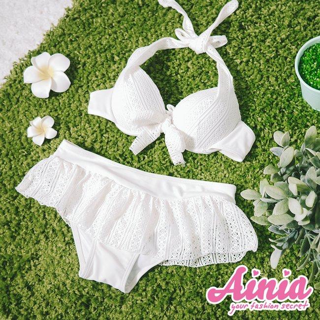 波西米亞 彈性蕾絲三件式泳衣 M-XL AINIA,泳衣,Ania,Alnla,三件,比基尼