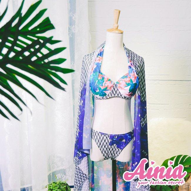 熱帶叢林 綁帶三件式泳衣 M-XL AINIA,泳衣,Ania,Alnla,三件,沙龍