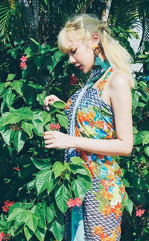 熱帶叢林 綁帶三件式泳衣 M-XL AINIA - 綠色