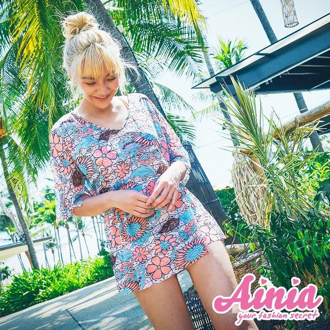 浪漫夕陽 多穿式三件式比基尼 M-XL AINIA,泳衣,三件,Ania,Alnla,鋼圈