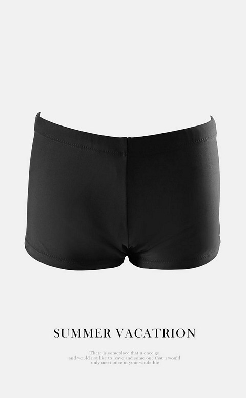 百搭小褲 百搭平口女泳褲 M-XL AINIA - 黑色