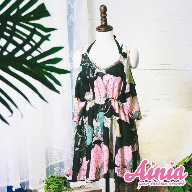 夏夜花神 綁帶繞頸三件式比基尼 M-XL AINIA,泳衣,Ania,Alnla,三件式,比基尼