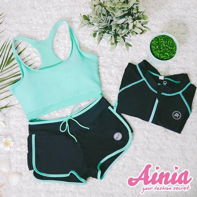 韓妞甜心 多功能三件式運動泳衣 M-XL AINIA,泳衣,Ania,Alnla,三件式,