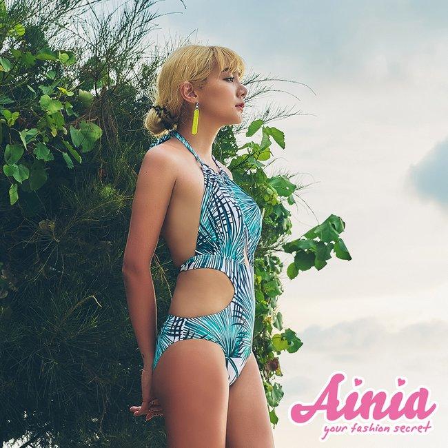 棕櫚海風 性感美胸連身挖腰連身泳衣 S-L AINIA,泳衣,Ania,Alnla,連身,