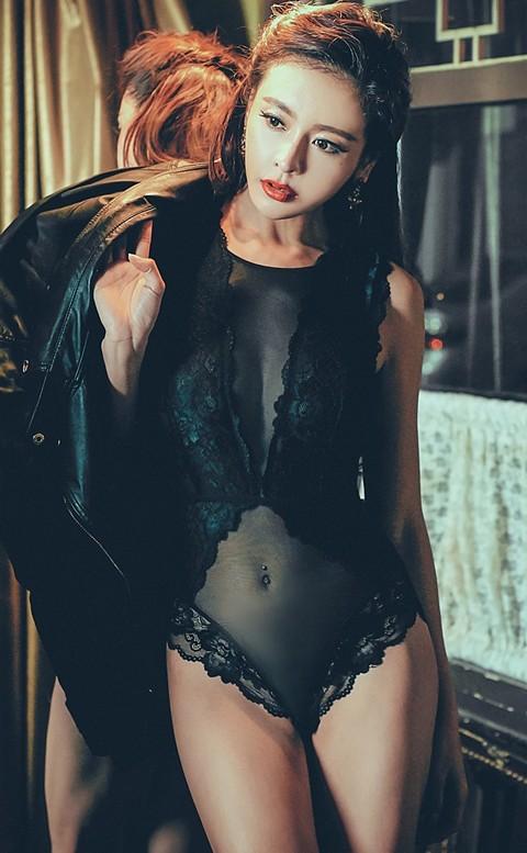 神祕女郎 Bodysuit 連身襯衣 S-L anSubRosa - 黑色