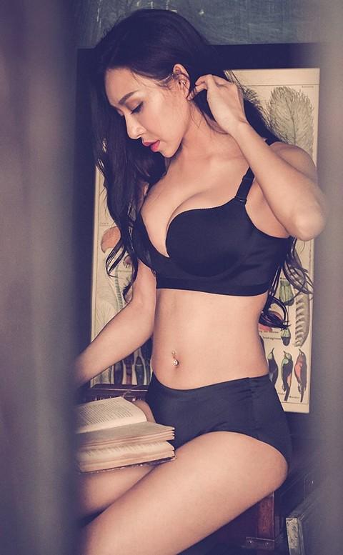溫柔防護 一體成形舒適無痕內衣褲 B-E anSubRosa - 黑色