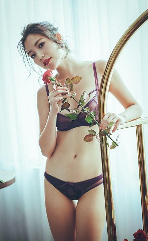 霓虹女伶 復古無襯鋼圈成套內衣褲 B-D anSubRosa - 紫色