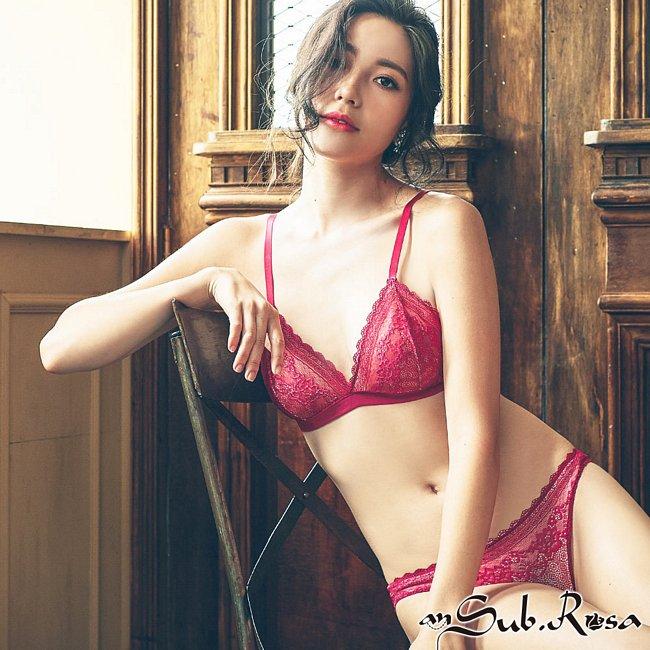 忌妒天使 蕾絲無襯成套內衣褲 S-XL anSubRosa,內衣褲,成套內衣,蕾絲,無襯,法式蕾絲