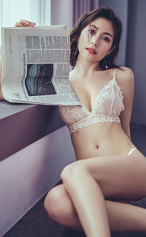 優雅夢露 氣質蕾絲無襯成套內衣褲 S-XL anSubRosa - 粉橘