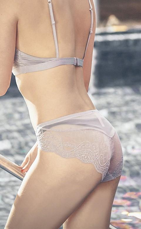 曖昧巴黎 蕾絲手工刺繡內褲 S-XL anSubRosa - 灰色