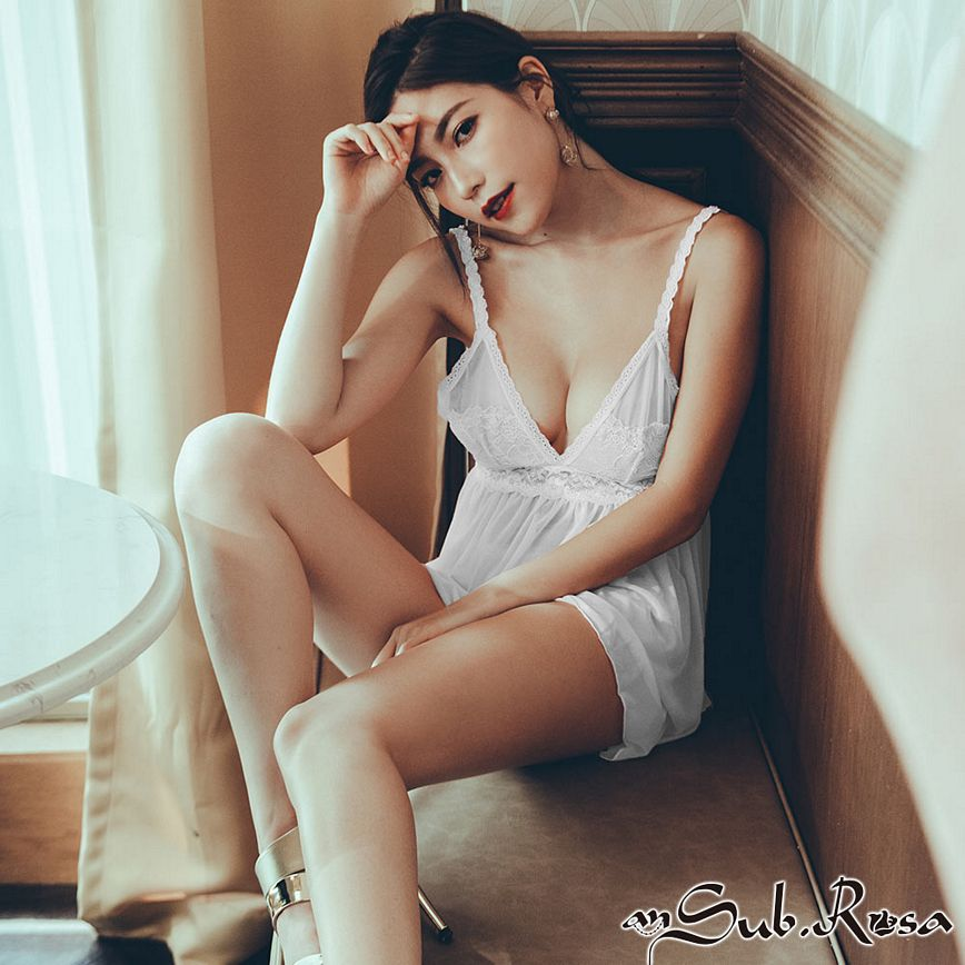 薇亞童話 蕾絲薄紗連身睡衣 FREE anSubRosa,睡衣,連身睡衣褲,蕾絲,網紗,罩杯