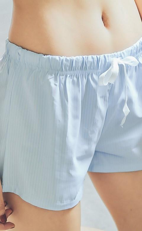 甜美蘇打 涼感透氣舒適睡褲 FREE nalla - 粉藍