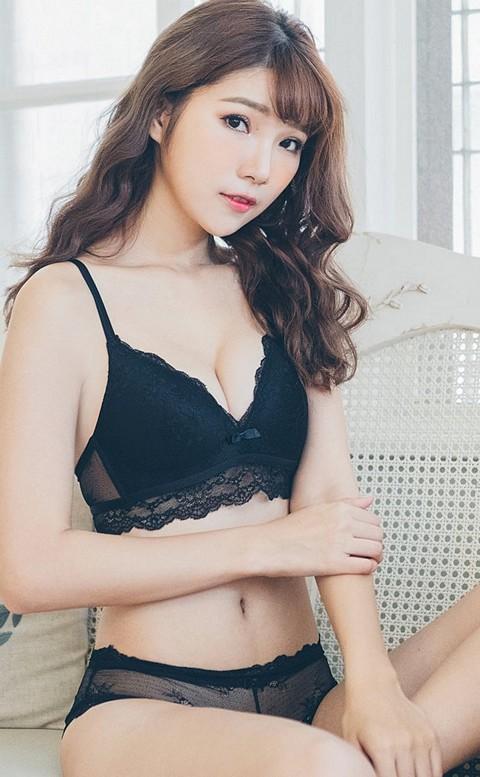 甜美拉娜 微性感無鋼圈成套內衣褲 S-XL nalla - 黑色