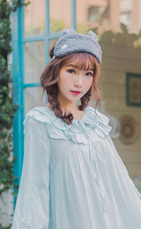 艾妮拉拉 韓系卡通舒眠眼罩 FREE nalla - 灰色