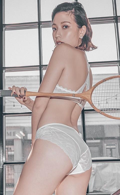 交織情綿 歐系蕾絲中腰內褲 S-XL anSubRosa - 白色