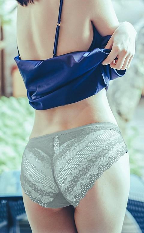 唯美月光 無痕蕾絲三角內褲 S-XL anSubRosa - 灰色