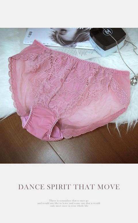 美尻呵護 蕾絲透氣低腰內褲 M-XL anSubRosa - 紫色