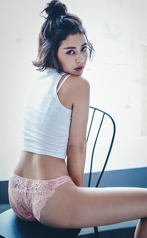 高調旋律  高衩蜜桃臀蕾絲內褲 S-XL anSubRosa - 粉色