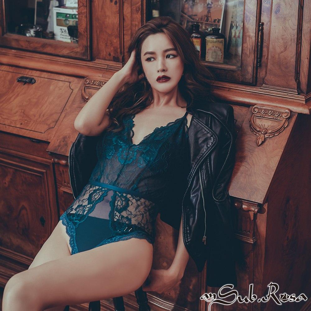 訂製龍舌蘭 性感深V蕾絲 bodysuit 襯衣 S-XL anSubRosa,連身襯衣,睡衣派對,襯衣,蕾絲,透視柔紗