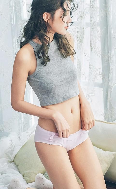 初戀情結 荷葉邊親膚內褲 M-L nalla - 粉色
