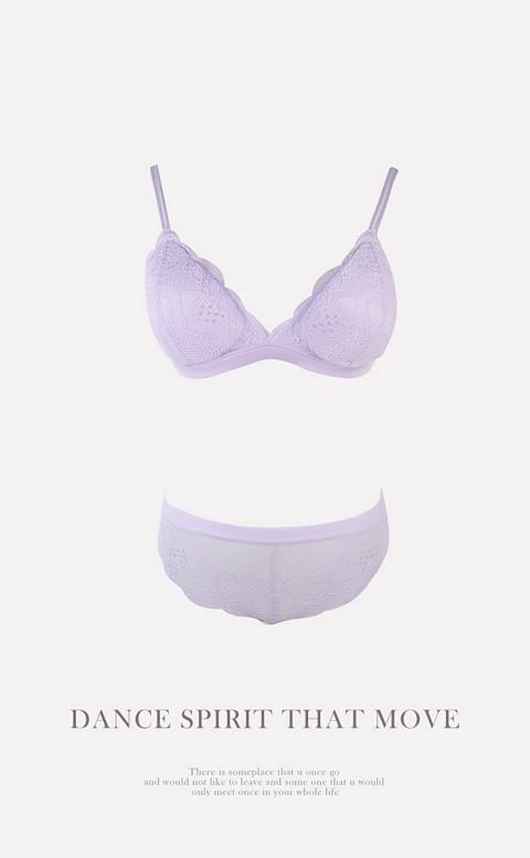 愛情陷阱 氣質無鋼圈成套內衣褲 S-XL anSubRosa - 淺紫