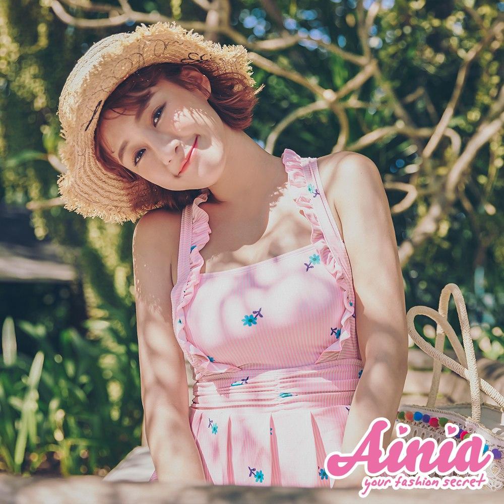 花田物語 氣質古典洋裝式連身泳衣 M-XL AINIA,泳衣,Ania,Alnla,連身泳衣,隱藏贅肉