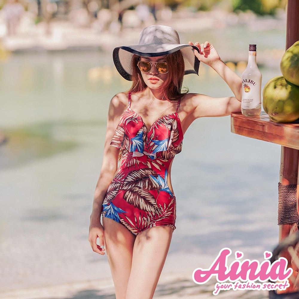 盛夏光年 挖腰美胸連身泳衣 M-2XL AINIA,泳衣,Ania,Alnla,二件式,兩件式