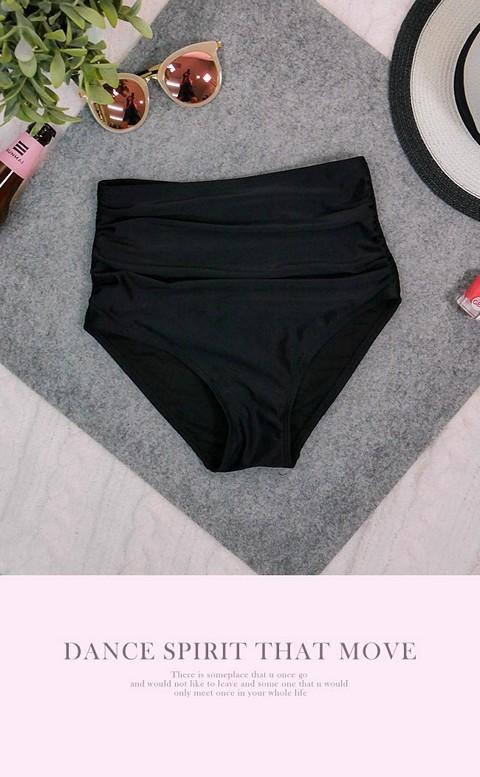 炙熱心弦 高腰遮肚三角泳褲 S-3XL AINIA - 黑色