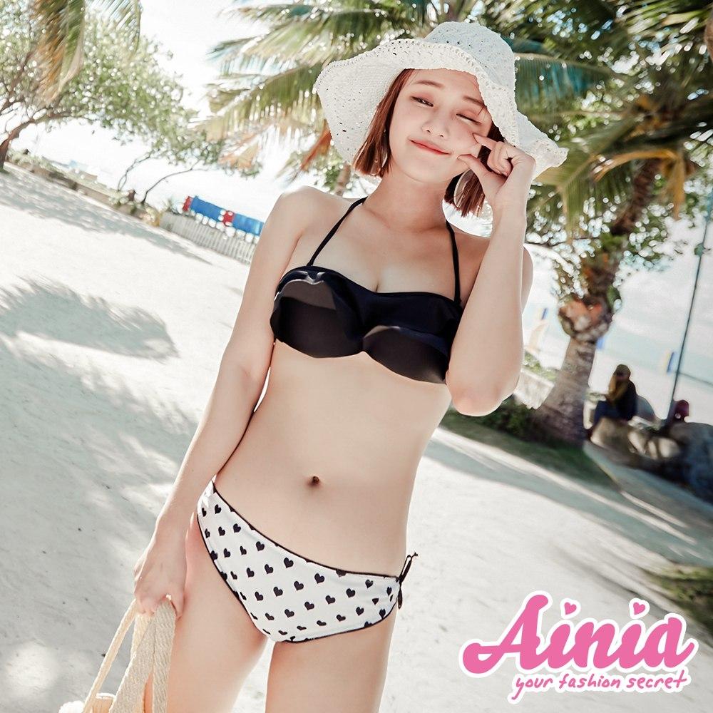 點點浪花 荷葉後綁帶兩件式泳衣 S-L AINIA,泳衣,Ania,Alnla,二件式泳衣,兩件式泳衣