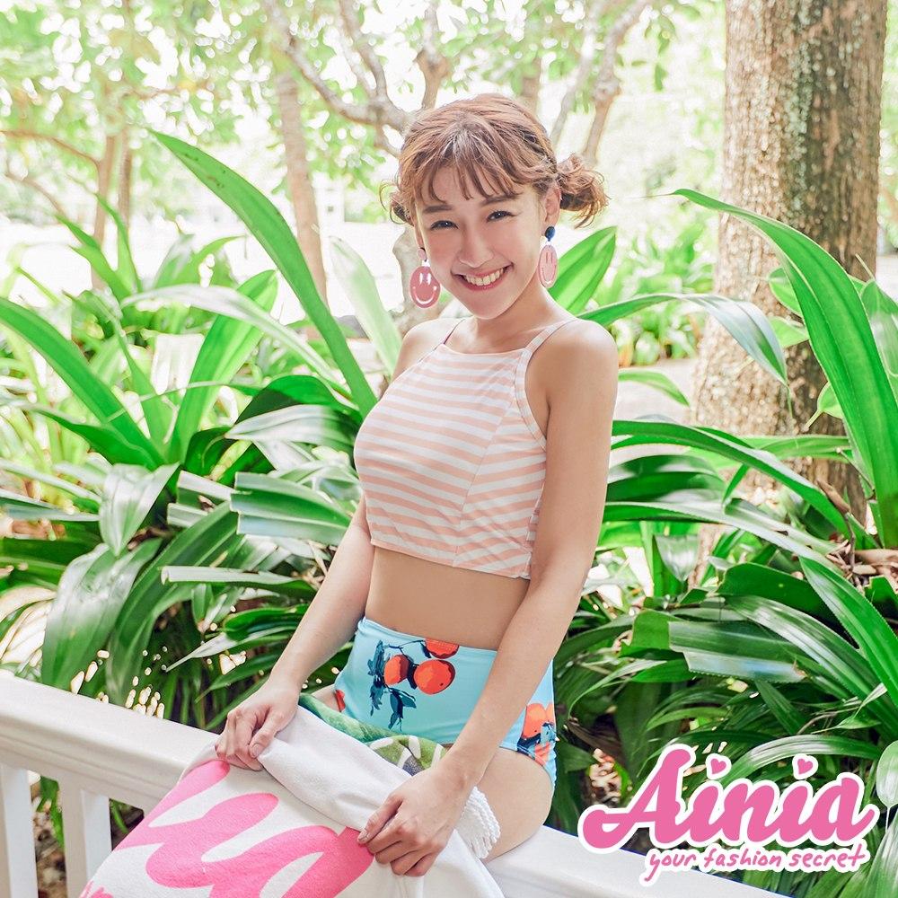 夏日馬卡龍 俏皮條紋兩件式泳衣 S-XL AINIA,泳衣,Ania,Alnla,二件式,兩件式
