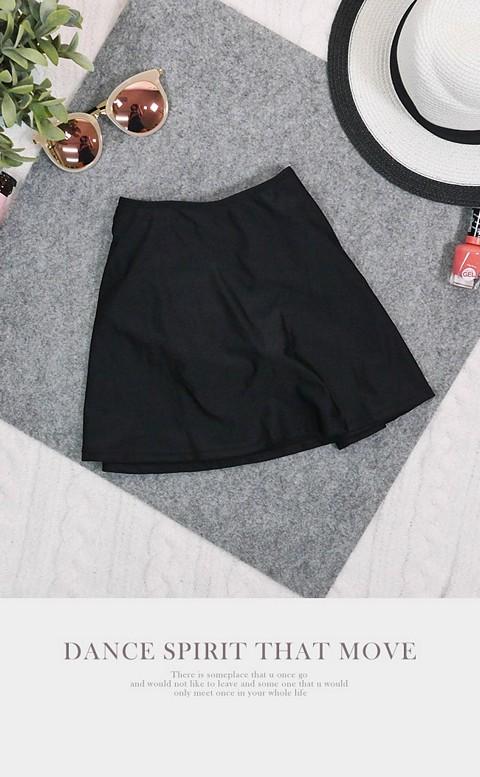 青春態度 經典百搭泳褲裙 S-3XL AINIA - 黑色