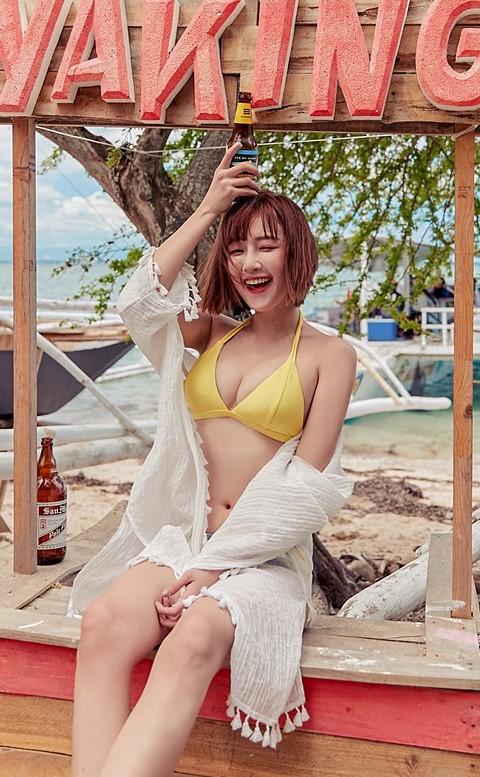 戀戀夏日 極致深V綁帶比基尼 S-XL AINIA - 黃色
