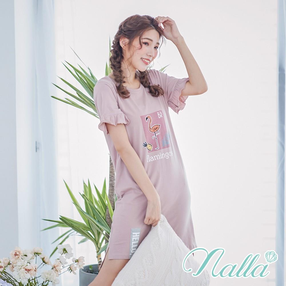 浪漫詩篇 親膚純棉休閒連身睡衣 M-2XL nalla,連身睡衣,居家服,寬鬆睡衣,親膚棉,