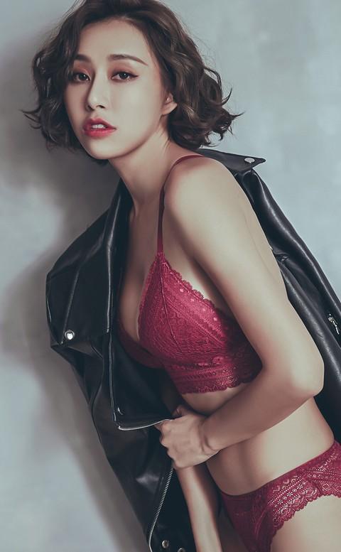 荊棘蜜雪 蕾絲無鋼圈成套內衣褲 A-C anSubRosa - 紅色