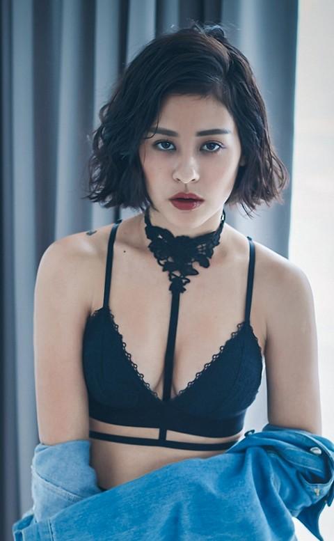 永恆救贖 性感裝飾刺繡頸帶 FREE anSubRosa - 黑色