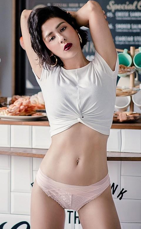 晨光初醒 親膚蕾絲美臀內褲 M-L anSubRosa - 藕粉