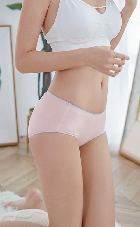 親密約定 無痕柔軟跳色內褲 L-XL nalla - 粉色