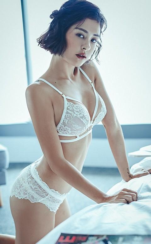 微醺夜晚 性感美背無襯成套內衣褲 S-L anSubRosa - 白色