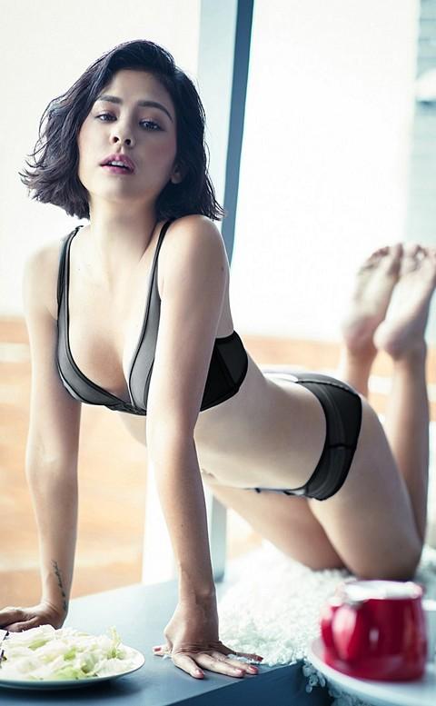 翻玩女神 緞面絲質無襯成套內衣褲 A-D anSubRosa - 黑色