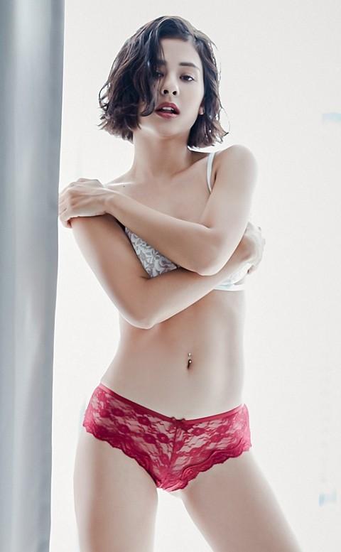 纏綿仲夏 性感交叉蕾絲內褲 M-L anSubRosa - 紅色