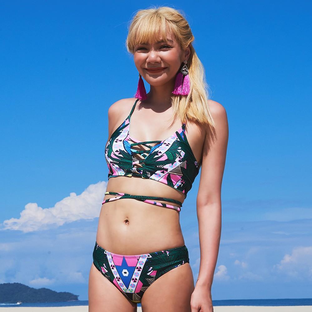 【首購免運費】巴西之旅 性感交叉美背兩件式泳衣 S-XL AINIA